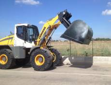 HIGH DUMP ROLLOUT BUCKET TWO CYLINDER